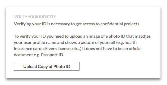 Verify your ID