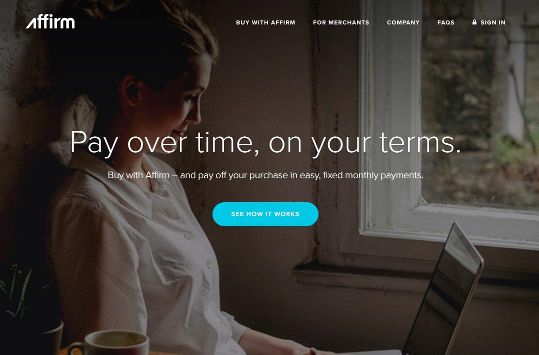 Affirm's website