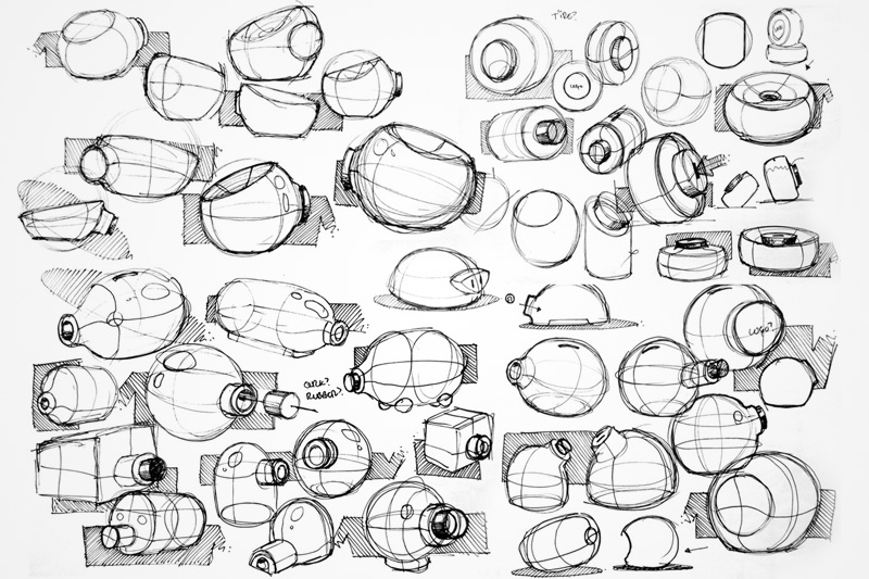 Oxelot's sketches of an idea for a product design challenge on jovoto