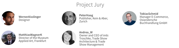 Forum Zukunft Jury which decided on the winning submissions on the Future Of Books