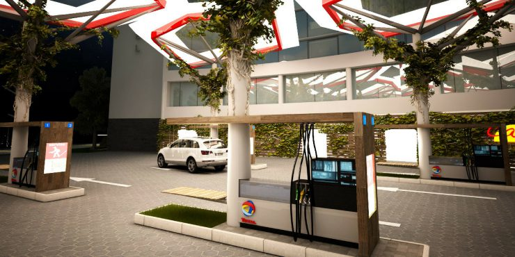 Total. Service Station of the Future, Regeneration